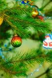 Closeup bauble Christmas tree ornament decoration. Stock Image