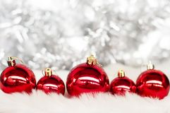 Closeup of  bauble - pattern white background for Christmas or New years decoration background royalty free stock images