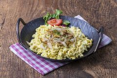 Kaes spaetzle stock photo