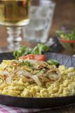 Kaes spaetzle on wood stock photos