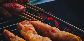 closeup BBQ in Brazil stock images
