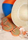Closeup on beach accessories Royalty Free Stock Images