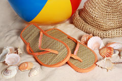 Closeup on beach accessories Royalty Free Stock Photo