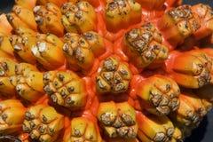Closeup of a Beach Fruit Stock Images
