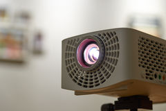 Closeup of Beam projector. For home & office stock photo