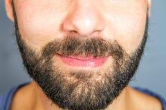 Closeup of beard and mustache man Stock Photography
