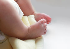 Closeup beautiful baby feet Stock Image