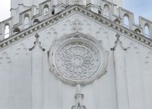 Closeup of beautiful carved design of St. Paul's Cathedral Kolkata Stock Image