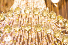 Closeup Beautiful Crystal Chandelier Stock Image
