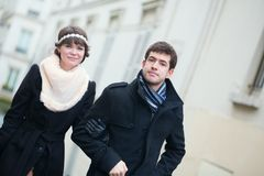 Closeup of dating couple in Paris Stock Image