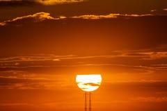 Closeup beautiful dramatic sunset and cloud at sky.  stock photo