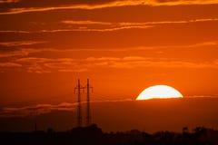 Closeup beautiful dramatic sunset and cloud at sky.  royalty free stock photography