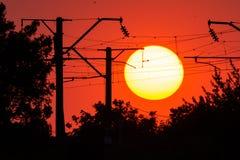 Closeup beautiful dramatic sunset and cloud at sky.  stock photography