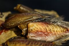 Dried Snakeskin gourami. stock photography