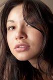 Closeup of beautiful face w stock photo
