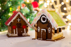 Closeup of beautiful gingerbread house at home Royalty Free Stock Photography