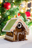 Closeup of beautiful gingerbread house at home Stock Photography