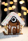 Closeup of beautiful gingerbread house at home Stock Image
