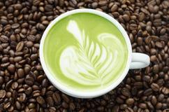 Closeup of a beautiful green tea Stock Image