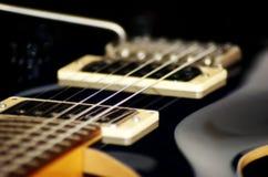 Closeup of beautiful guitar. Close up of electric guitar showing smooth lines Stock Photo