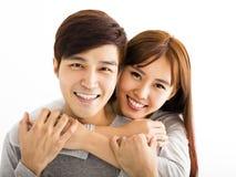 Closeup beautiful happy couple stock photo