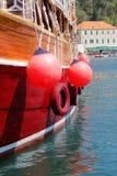 Closeup of a beautiful large sailing ship Stock Photo