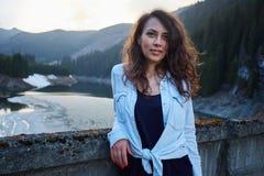 Closeup of a beautiful latin girl Stock Photography