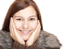 Closeup of a beautiful relaxed woman Royalty Free Stock Image