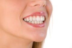 Closeup of beautiful smile Stock Photos