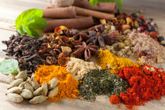 Closeup of beautiful spices Royalty Free Stock Photo