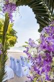 Closeup of beautiful wedding decorated Stock Images