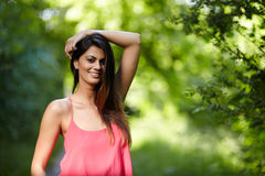Closeup of a beautiful woman Royalty Free Stock Images