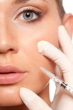 Syringe injection beauty concept Stock Images