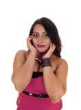 Closeup of beautiful woman. Royalty Free Stock Images