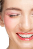 Closeup of beautiful woman laughing Royalty Free Stock Images