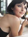 Closeup Of Beautiful Woman Looking Away Royalty Free Stock Image