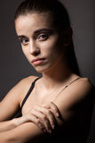 Closeup beautiful woman portrait Royalty Free Stock Photos