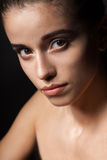 Closeup beautiful woman portrait Royalty Free Stock Images