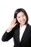 Closeup of beautiful young business woman smile Stock Photos