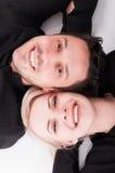 Closeup of beautiful young couple stock image