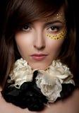 Closeup of beautiful young woman Royalty Free Stock Image