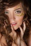 Closeup of beautiful young woman Stock Photography