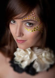 Closeup of beautiful young woman Royalty Free Stock Photography