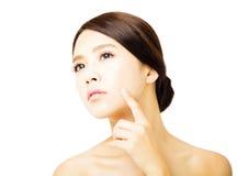 Closeup beautiful  young woman face Royalty Free Stock Photos