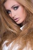 Closeup beauty portrait. Royalty Free Stock Image