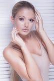 Closeup beauty portrait of sexy girl. Royalty Free Stock Photo