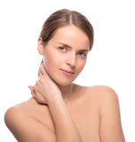 Closeup beauty shot of attractive woman Royalty Free Stock Photography
