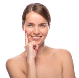 Closeup beauty shot of attractive woman Royalty Free Stock Photo