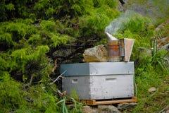 Bee smoker. Closeup of a bee smoker Royalty Free Stock Image