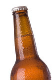 Closeup of beer bottle Royalty Free Stock Photo